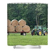 Hauling Hay Shower Curtain
