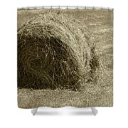 Hay Bale In A Field Shower Curtain