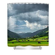 Hay Barns In Oberinntal, Pettneu Am Arlberg Shower Curtain