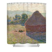 Haystacks, Midday Shower Curtain