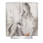 Head Of A Youth Turned To The Left Shower Curtain