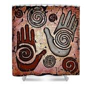 Healing Hands Fresco Shower Curtain