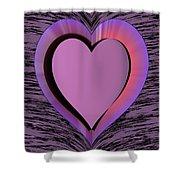 Heart Shape Shower Curtain
