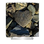 Heart Shaped Stone Loch Fyne  Shower Curtain