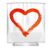 Heart - Symbol Of Love Shower Curtain