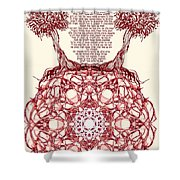Hebrew Prayer- Toda- Thanks To The Lord Shower Curtain