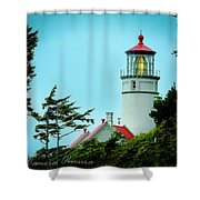 Heceta Lighthouse Shower Curtain