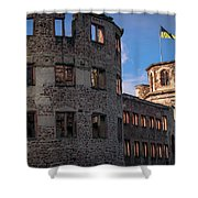 Heidelberg Castle Heidelberger Schloss Shower Curtain