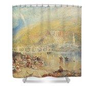 Heidelberg With A Rainbow Shower Curtain