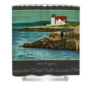 Hendricks Head Lighthouse, Maine Shower Curtain