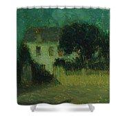 Henri Le Sidaner 1862 - 1939 Moonlight Shower Curtain