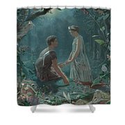 Hermia And Lysander Shower Curtain