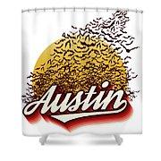 Congress Avenue Bridge Bats Take Flight In Austin Texas Shower Curtain