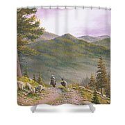 High Country Trails Shower Curtain