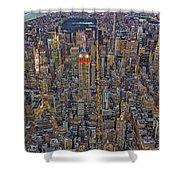 High Over Manhattan Shower Curtain