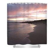 Highcliffe Beach At Sunset Shower Curtain