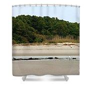 Hilton Head Island Shoreline Shower Curtain