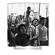 Hispanic Anti-viet Nam War Rally Tucson Arizona 1971 Shower Curtain