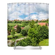 Historic Town Of Rothenburg Ob Der Tauber  Shower Curtain