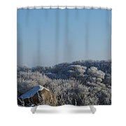 Hoarfrost Shower Curtain