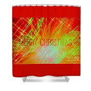 Holiday Burst Shower Curtain