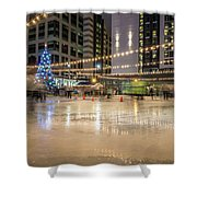 Holiday Scenes In Uptown Charlotte North Carolina Shower Curtain