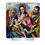 Holy Family With St Anne Shower Curtain