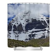 Holy Kailas North Slop Himalayas Tibet Yantra.lv Shower Curtain