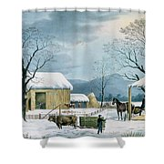Home To Thanksgiving Shower Curtain