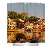 Homes On Kennebunkport Harbor Shower Curtain