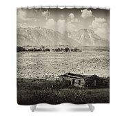 Homestead In The Grand Tetons Shower Curtain