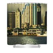 Honolulu Harbor Shower Curtain