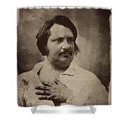 Honore De Balzac Shower Curtain