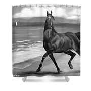 Horses In Paradise  Dance Shower Curtain