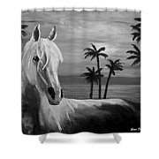 Horses In Paradise  Tell Me Your Dream Shower Curtain