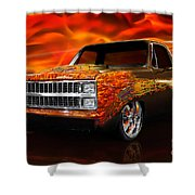Hot Rod Chevrolet Scotsdale 1978 Shower Curtain