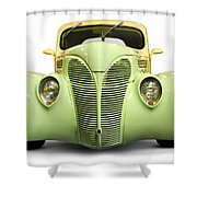 Hot Rod Ford Coupe 1938 Shower Curtain