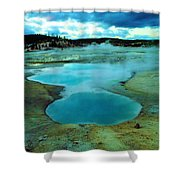 Hot Springs In Yellowstone. Shower Curtain