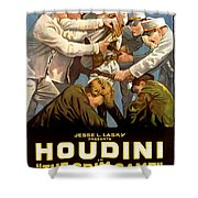 Houdini In The Grim Game 1919 Shower Curtain