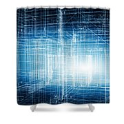 House 3d Project Shower Curtain