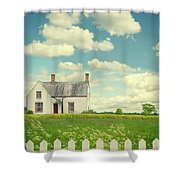 House In The Countryside Shower Curtain