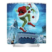 How The Grinch Stole Christmas 2000  Shower Curtain