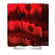 Hues Of Massey Hall - Red Shower Curtain