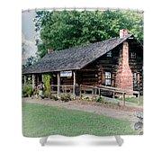 Huffman Log Cabin Shower Curtain