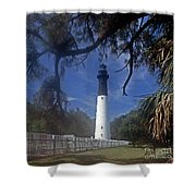 Lh 8-3 Hunting Island Lighthouse Sc Shower Curtain