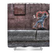 I Heart Ny Street Art 4 Shower Curtain