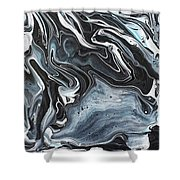 I Know It Looks Like Marble Shower Curtain