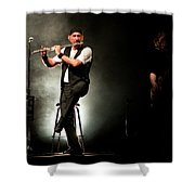 Ian Anderson Of Juthro Tull  Live Concert Shower Curtain