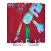 Icarus Falling Shower Curtain