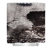 Ice And Sparkling Water Shower Curtain
